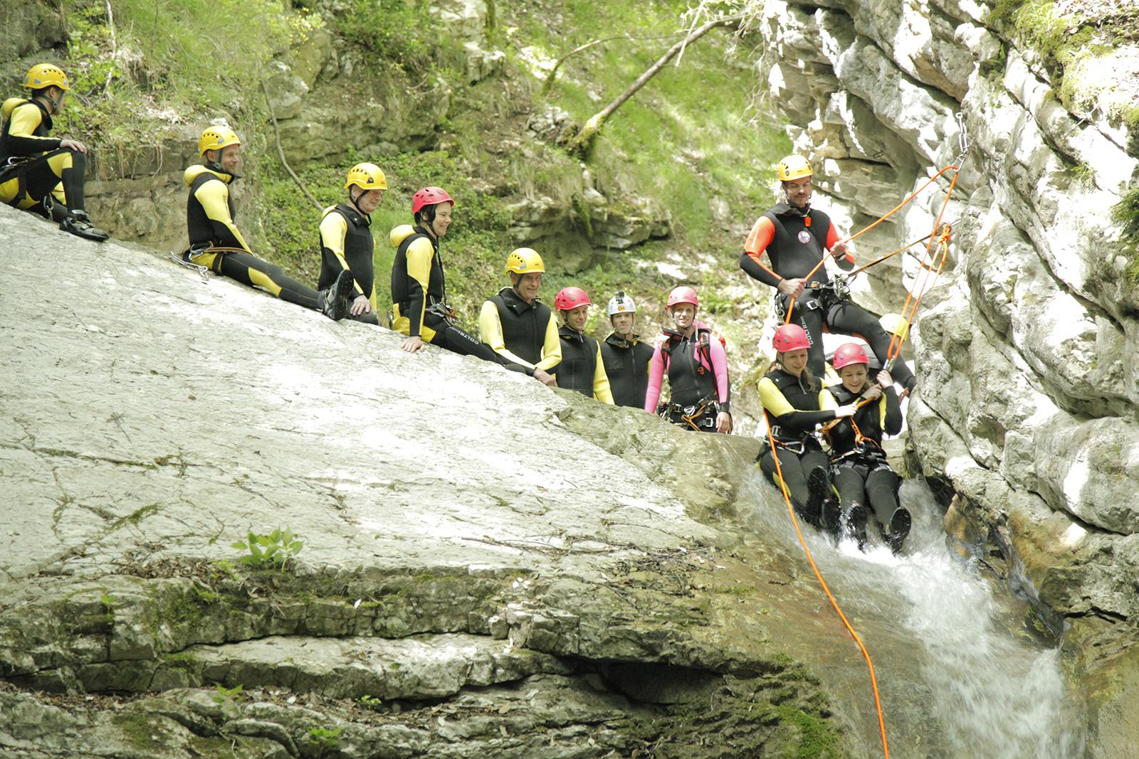 Canyoning Gardasee Klassenfahrt