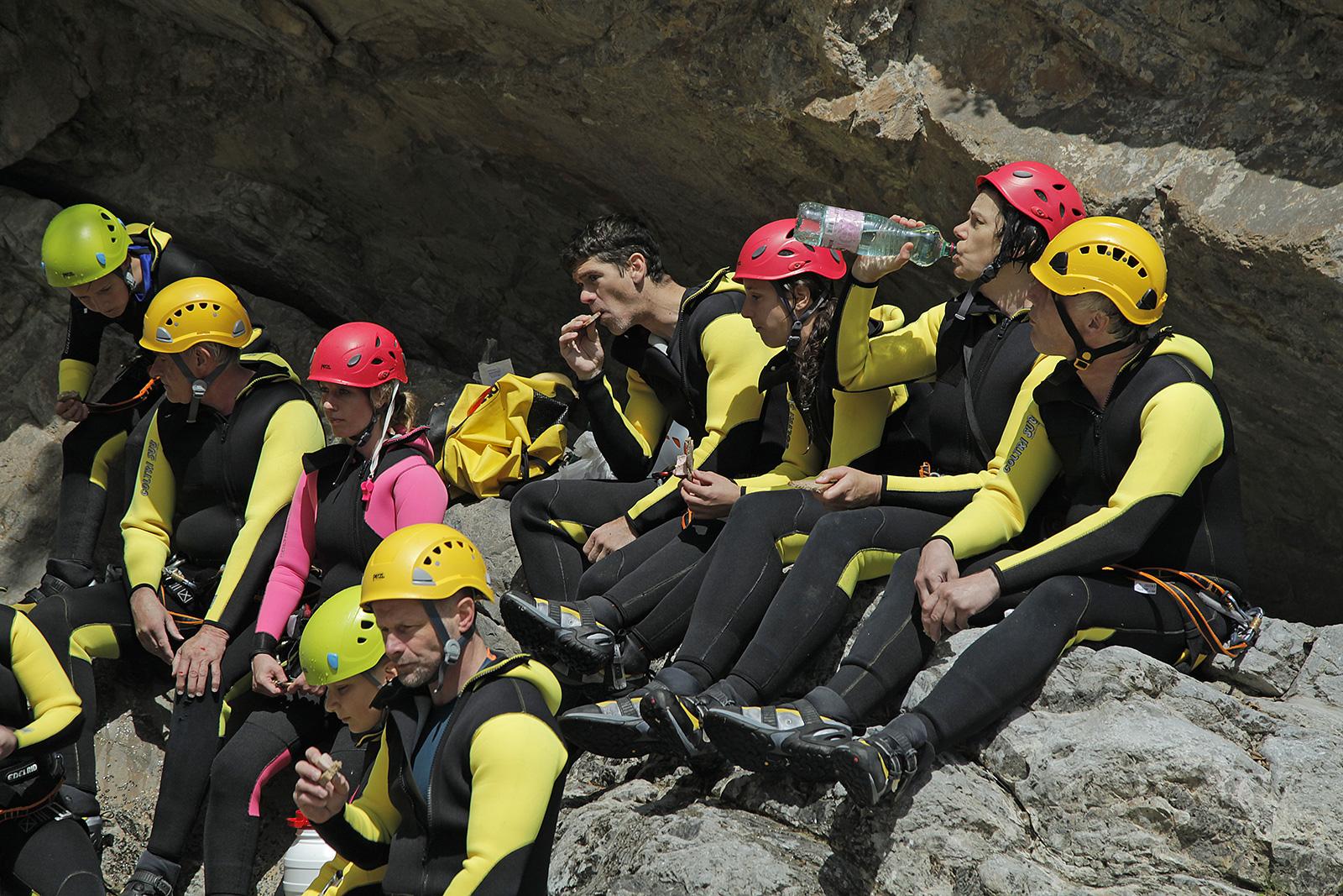 Canyoning Gardasee vereinsausflug
