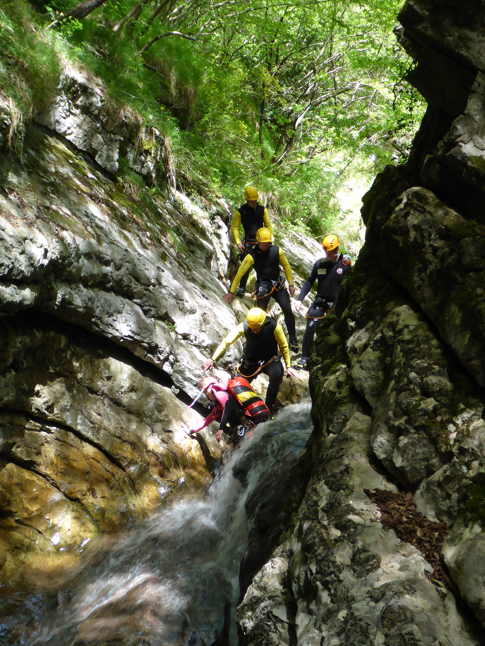 Canyoning Gardasee Betriebsausflug