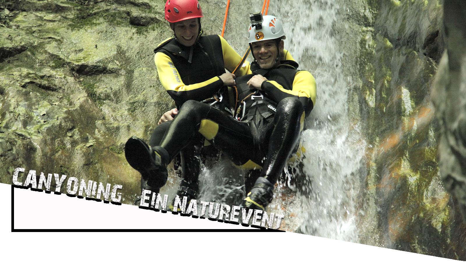 Canyoning Gardasee rutsche titelbild