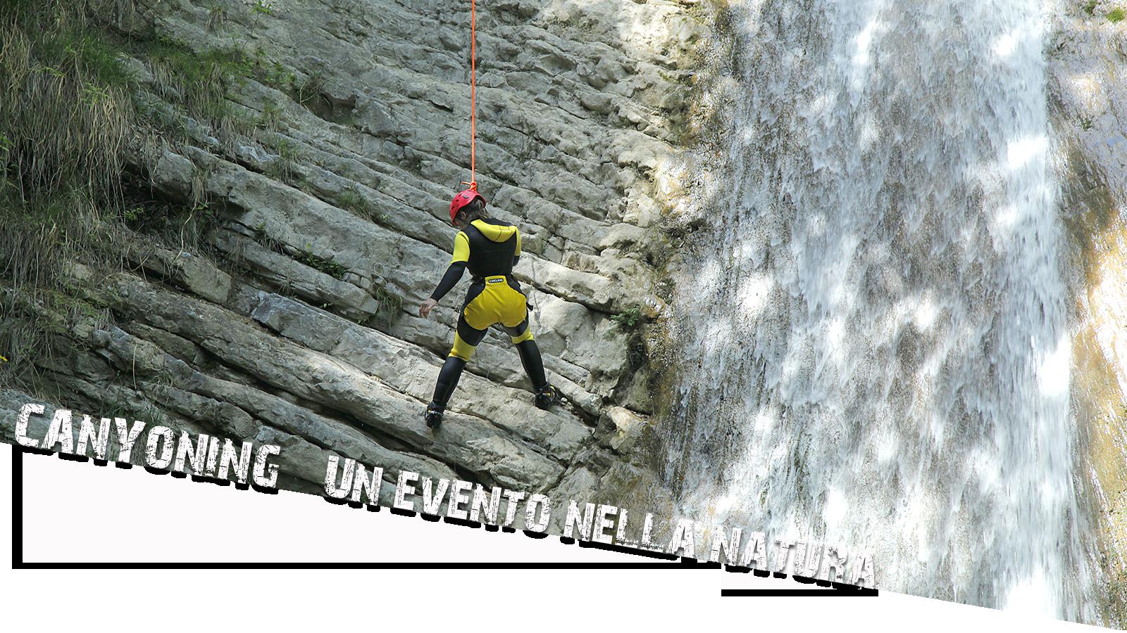 Canyoning Gardasee abseilen titelbild