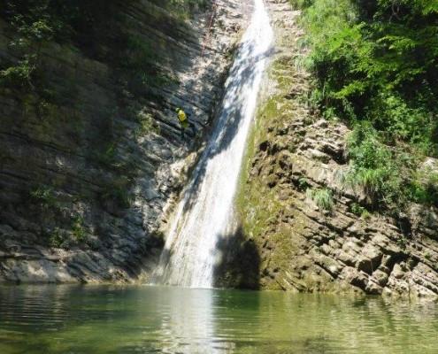 Canyoning Gardasee Vione Extrem höchster abseiler