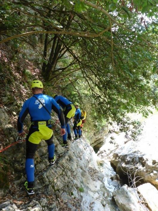 Canyoning Gardasee Vione Thrill klettern