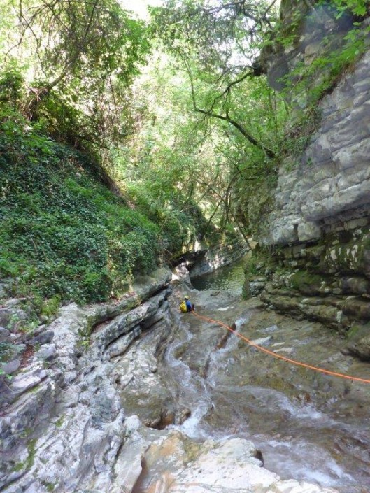Canyoning Gardasee Vione Thrill tief