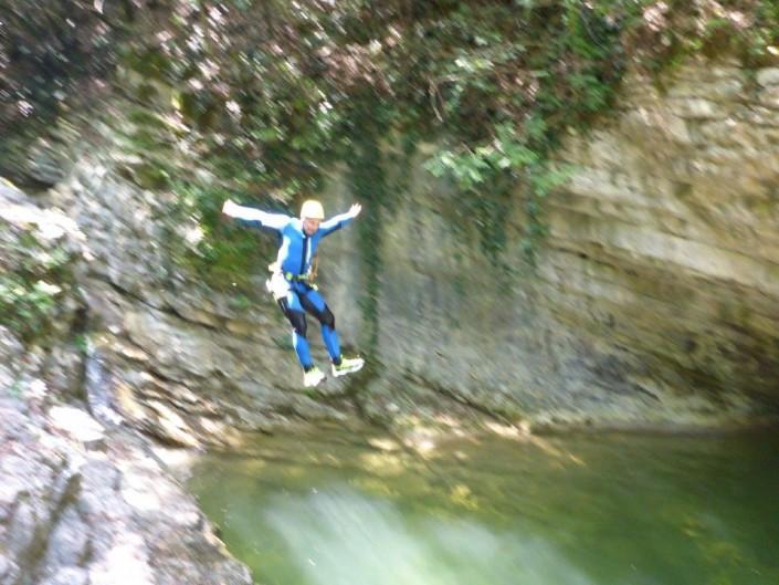 Canyoning Gardasee Vione Thrill sprung
