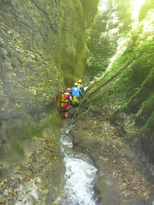 Canyoning Gardasee Vajo dell Orsa gehen