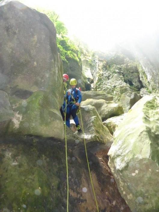 Canyoning Gardasee Vajo dell Orsa abseilen