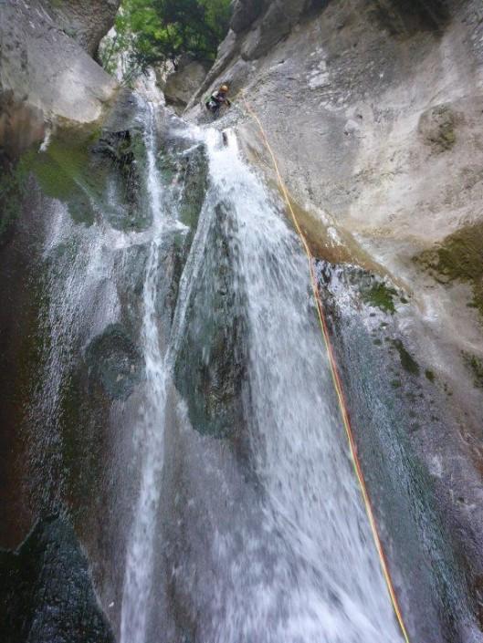 Canyoning Gardasee Vajo dell Orsa wasserfall