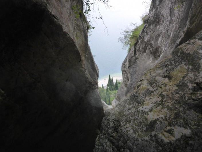 Canyoning Gardasee schlucht