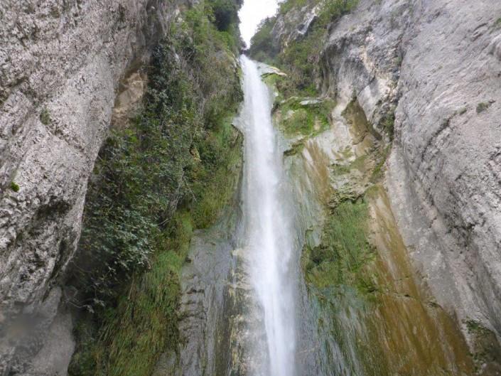 Canyoning Gardasee wasserfall