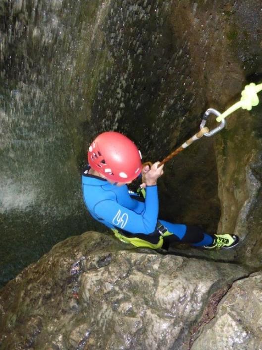 Canyoning Gardasee Vione Extrem passiv abseilen