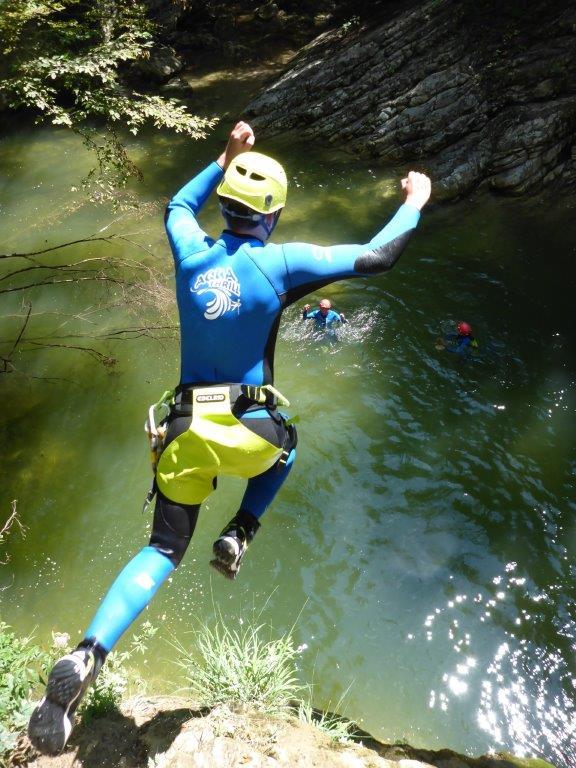 Canyoning Gardasee Vione Sprung