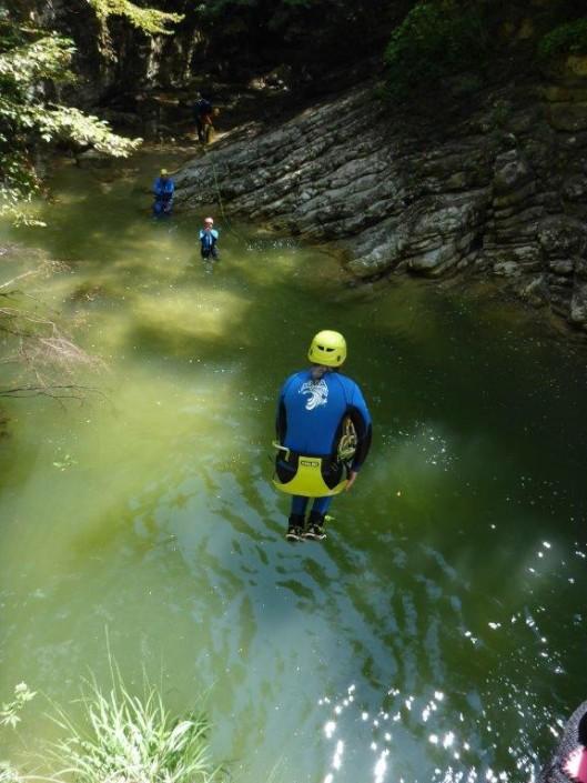 Canyoning Gardasee Vione Extrem sprung