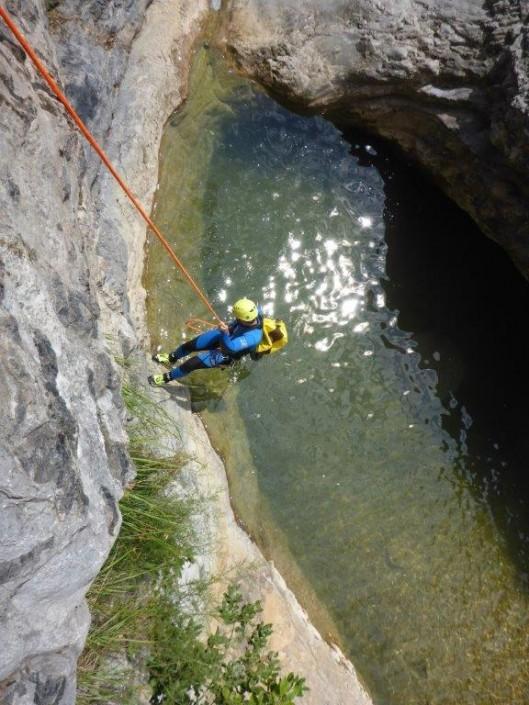 Canyoning Gardasee Vione Extrem abseilen
