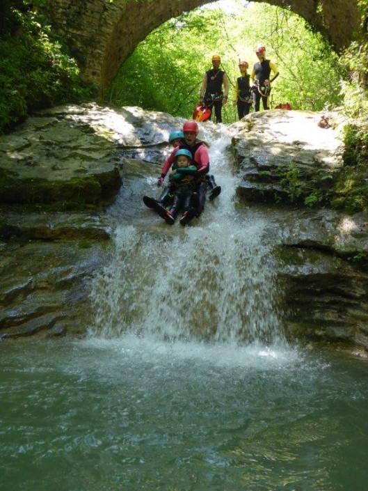 Canyoning Gardasee Funny Thrill Kids rutsche
