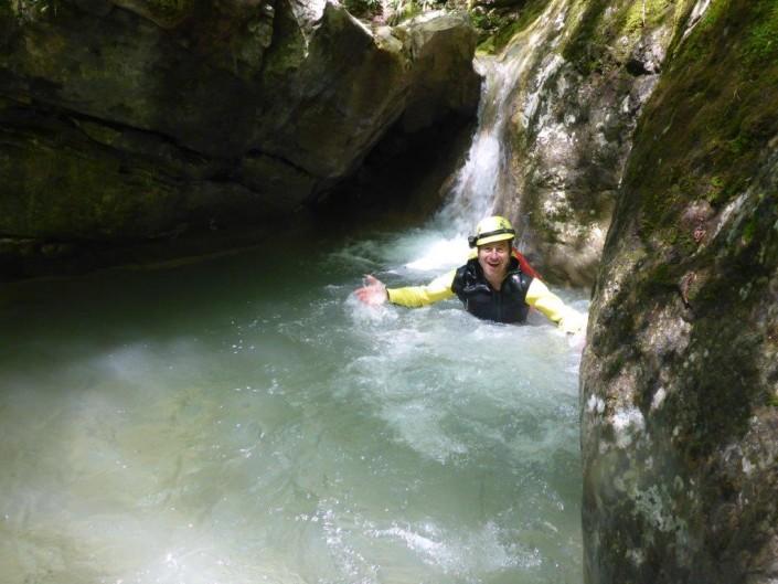 Canyoning Gardasee Funny Thrill Kids wasser
