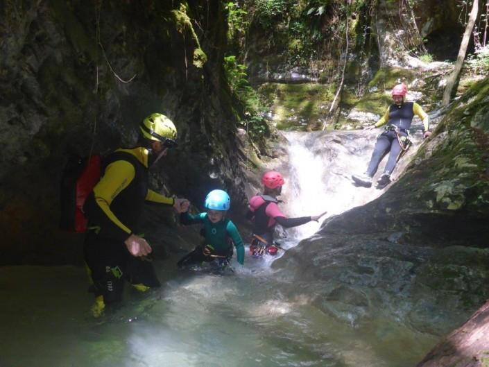 Canyoning Gardasee Funny Thrill Kids flussbett