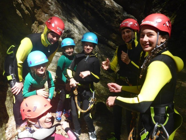 Canyoning Gardasee Funny Thrill Kids