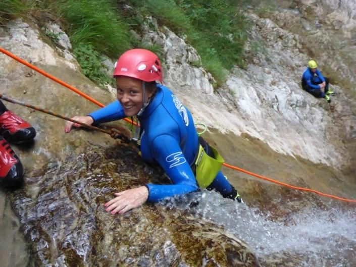 Canyoning Gardasee Funny Thrill Family abgrund