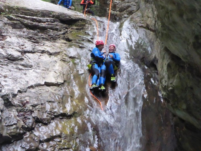 Canyoning Gardasee Funny Thrill Family geschwister