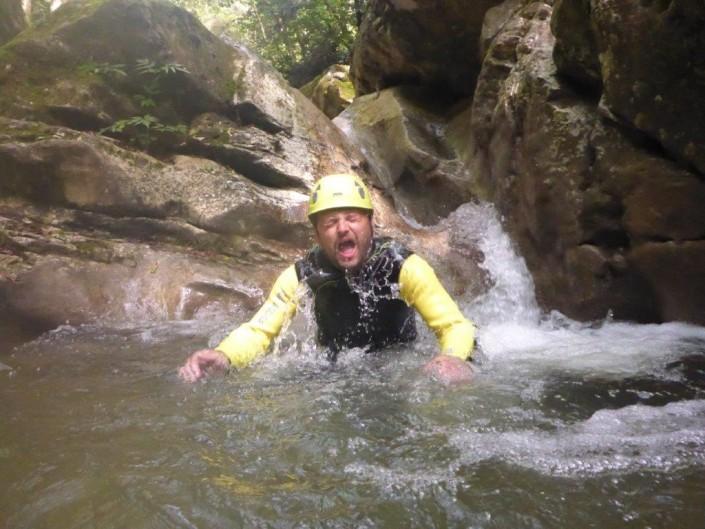 Canyoning Gardasee Funny Thrill Family kalt