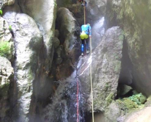 Canyoning Gardasee Vajo dell Orsa aktv abseilen