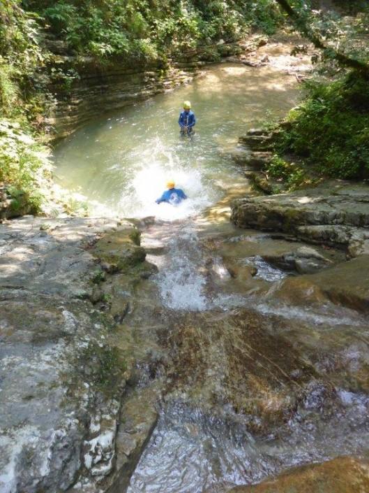 Canyoning Gardasee Funny Thrill Family rutschen
