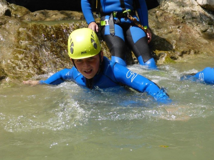 Canyoning Gardasee Funny Thrill Family schwimmen