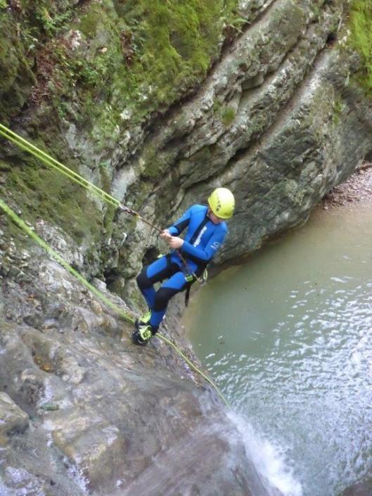 Canyoning Gardasee Funny Thrill abseilen erwachsener