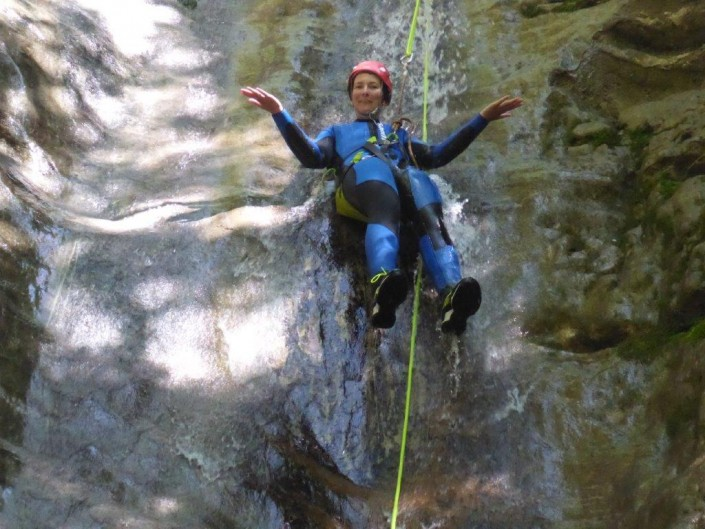 Canyoning Gardasee Funny Thrill abseilen