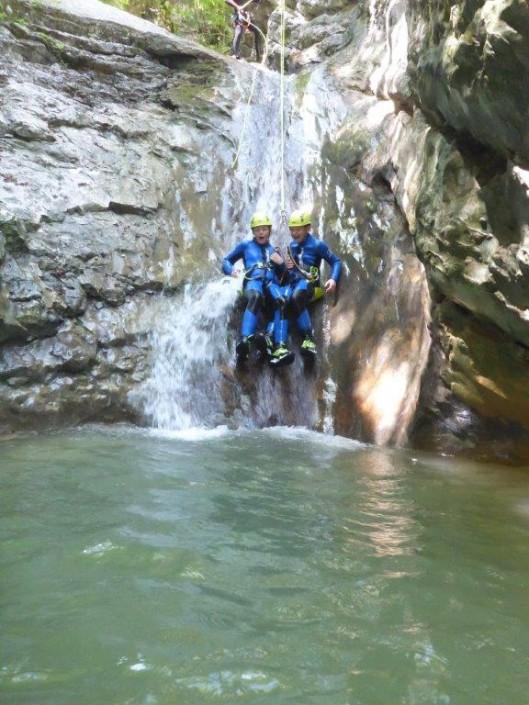 Canyoning Gardasee Funny Thrill Liebesrutsche