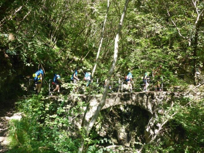 Canyoning Gardasee Funny Thrill Brücke