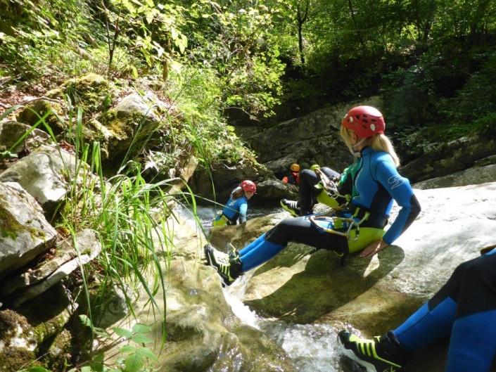 Canyoning Gardasee Funny Thrill Flussbett
