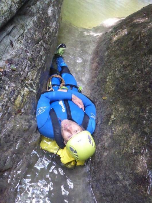 Canyoning Gardasee Funny Thrill rutschen erwachsener