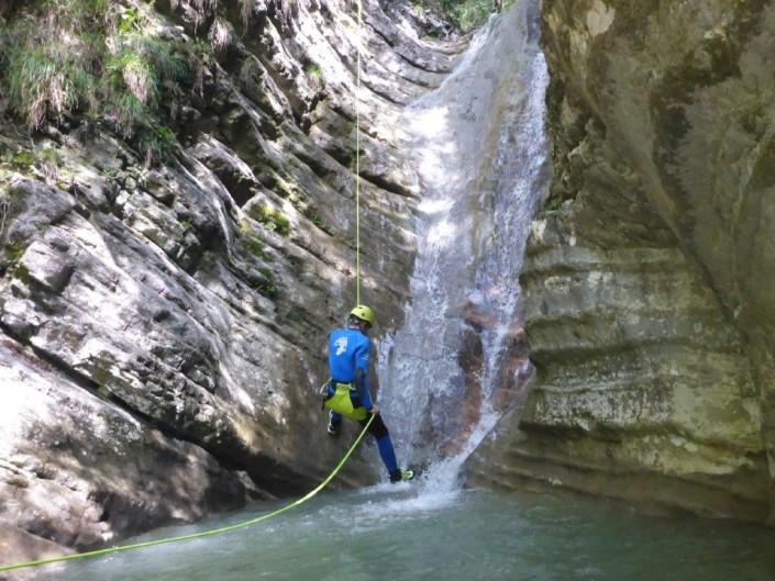 Canyoning Gardasee Vione Thrill abseilen