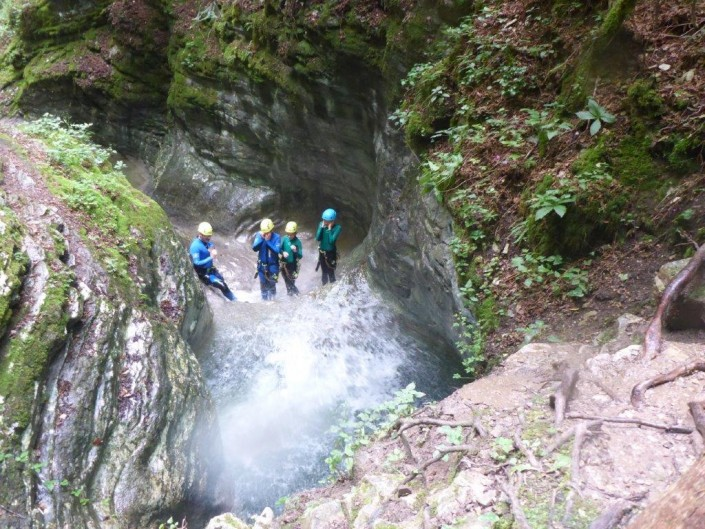 Canyoning Gardasee Funny Thrill Family pool