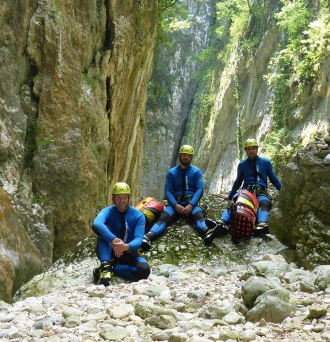 Canyoning Gardasee Vajo dell Orsa pause