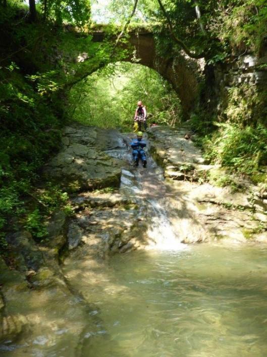 Canyoning Gardasee Vione Extrem brücke